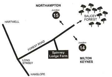 Spinney Lodge Farm bed and Breakfast map